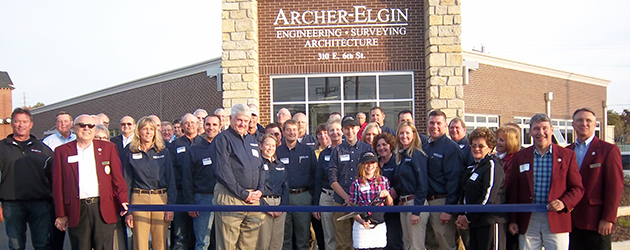 Ribbon Cutting at the Archer-Elgin Engineering Building